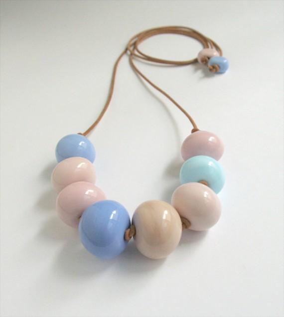Pastel mix glass necklace