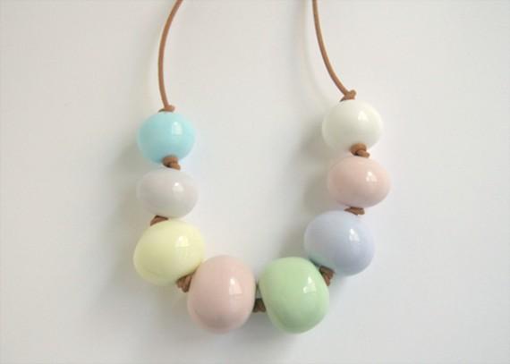 Pretty pastel mix glass bead necklace