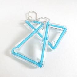 Aqua triangle earrings - Avril Bowie
