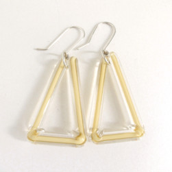 Cream triangle earrings - Avril Bowie