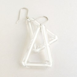 White triangle earrings - Avril Bowie
