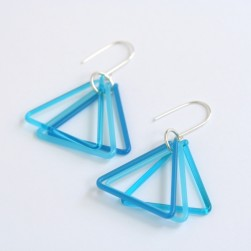 Small Glass Triangle Earrings - Avril Bowie