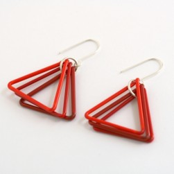 Glass triangle earrings - Avril Bowie