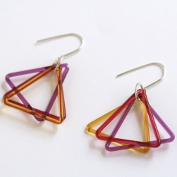 Small triangle trio violet, coral, amber - Avril Bowie