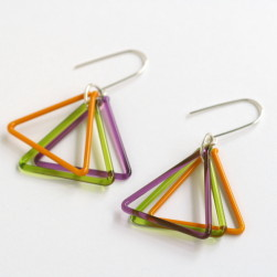 Small triangle trio violet, green, butterscotch - Avril Bowie