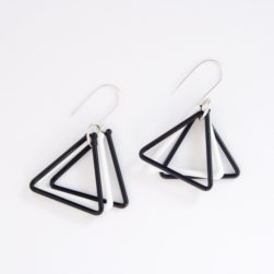 Avril Bowie - black and white earrings