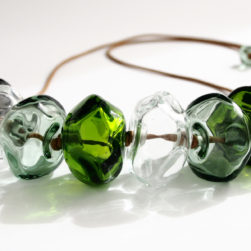 Avril Bowie Sage Green Glass Mix Necklace